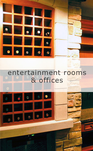 Transitional Entertainment Rooms & Offices